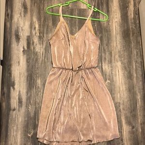 Shimmery champagne wrap dress